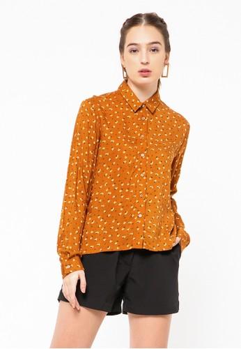 COLORBOX yellow Basic Long Sleeve Shirt 40717AA9AB966CGS_1