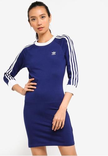 big sale 00cf9 fd703 adidas blue adidas originals 3 stripes dress DCD33AA48B12C2GS 1