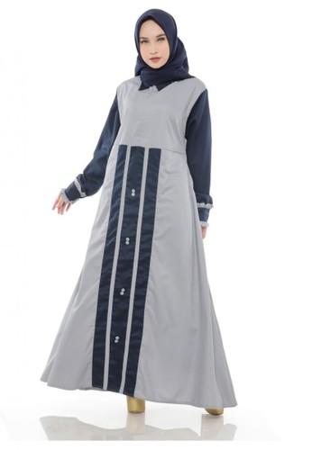 First Hijab navy Misha Dress in Navy 78C98AA8AB36E5GS_1