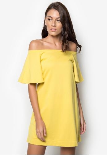 NEXT green Off-Shoulders Flowy Dress 10179AA6611600GS_1