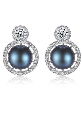 SUNRAIS silver High-grade colored stone silver fashion earrings 8CC0BACED56B46GS_1
