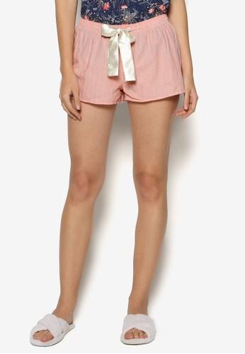 條紋抽繩睡esprit 香港褲, 韓系時尚, 梳妝