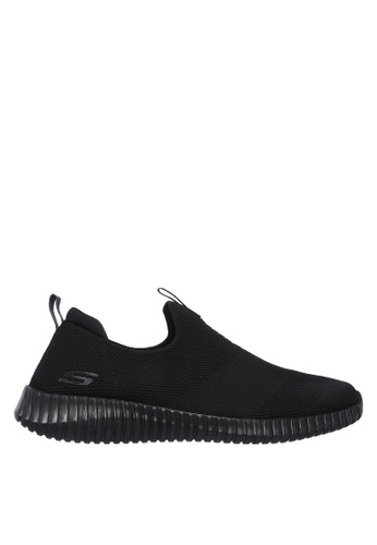 Skechers black Elite Flex - Wasik Slip-Ons 2DF6ASHEF54659GS_1