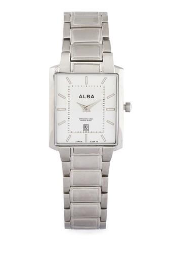 Alba silver Alba Square Watch Aya011 AL383AC63VSAID_1