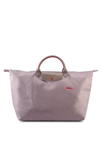 Longchamp beige Le Pliage Club Travel Bag L (zt) 4AFF3AC0BAC66DGS_1