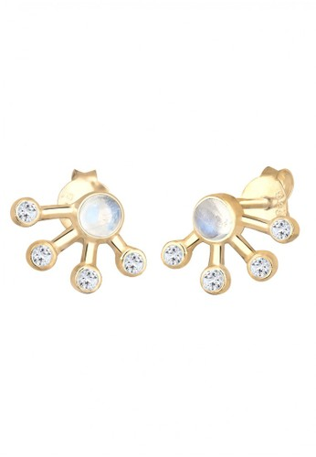 Elli Germany gold Perhiasan Wanita Perak Asli - Silver Anting Astro Topaz Moonstone gold plated Emas Emas E901AAC98C14E6GS_1