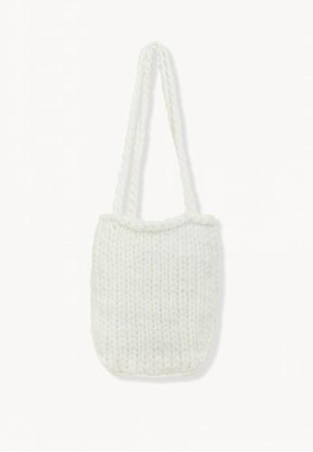 Pomelo white Crochet Shoulder Bag - White 3D030AC8B4311FGS_1