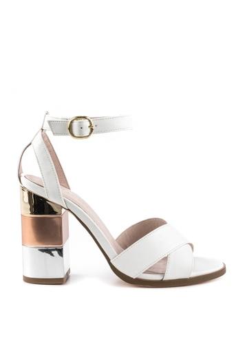 London Rag 白色 白色粗跟凉鞋 F2354SH322330DGS_1