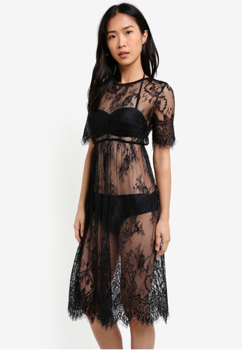 PINK N' PROPER black Davina Lace Beach Dress PI108US0S5D3MY_1