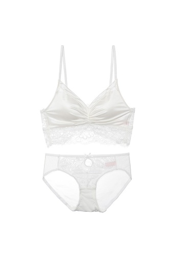 Midnight 白色 Premium Lace White Lingerie Set (Bra and Underwear) 5CA4BUS6FAB9A9GS_1