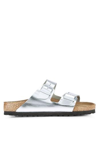 28975814724 Birkenstock silver Arizona Metallic Soft Footbed Sandals BI090SH0RTIGMY 1