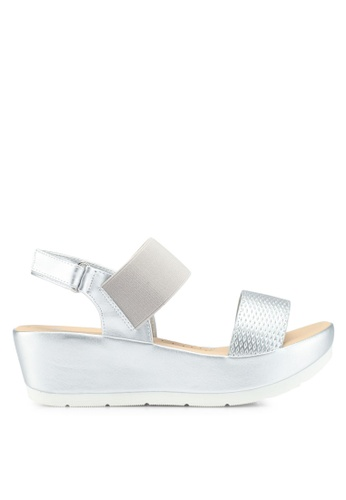 Bata silver Slip On Wedges 32188SHB2B7E71GS_1