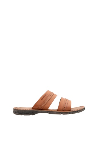 SEMBONIA brown SEMBONIA Men Synthetic Leather Sandal (Brown) 5072BSHB72DD57GS_1