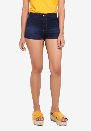 Miss Selfridge blue Petite Steffi Shorts 41776AACADA365GS_1