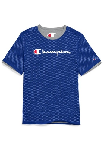champion blue CHAMPION Reversible Mesh Tee 03914AAA17C677GS_1