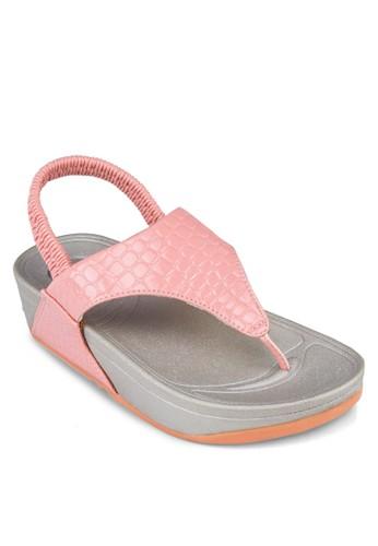 夾腳繞esprit手錶專櫃踝厚底涼鞋, 女鞋, 涼鞋