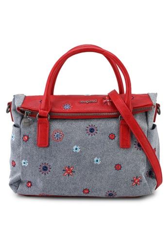 Desigual red Embroidery Denim Crossbody Bag A9916ACEE65E3EGS_1