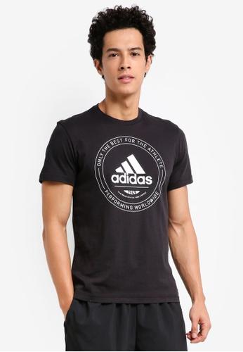 adidas black adidas performance adi emblem tee AD372AA0SUWTMY_1