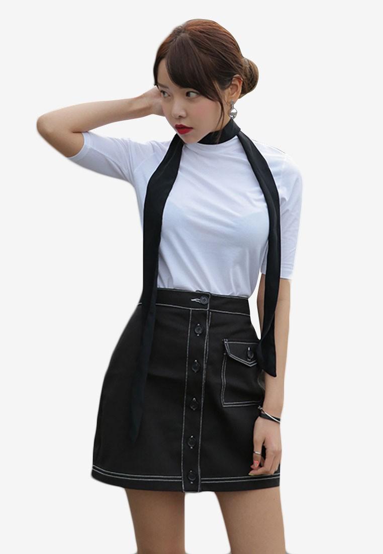 Korean Style Half Sleeve Slip Top