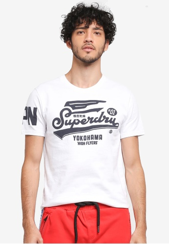 Superdry white Retro High Flyers Tee 48D68AA80ECF0AGS_1