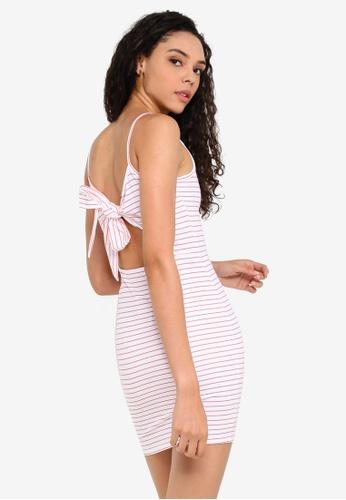 Miss Selfridge white STRIPE TIE BACK DRESS A1157AACBEA4A2GS_1