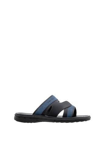SEMBONIA black Men Synthetic Leather Sandal SE598SH0SZ8WMY_1