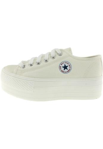 Maxstar 白色 新款韩国鞋C50-6H-All時尚帆布布混合女白色 US Women Size MA345SH90GTPTW_1