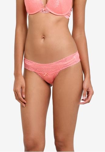 Cotton On Body pink Lace Waistband Cheeky Bikini Panties CO561US0SA3OMY_1