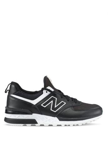 New Balance black 574 Sport Lifestyle Sneakers NE323SH0SXNMMY_1