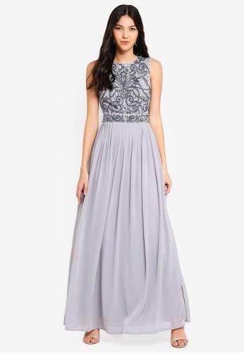 Angeleye grey Grey Cutout Back Dress 57926AA0F10BC3GS_1