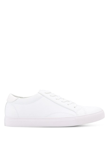 ZALORA white Essential Faux Leather Sneakers 5204DSHDEB6E21GS_1