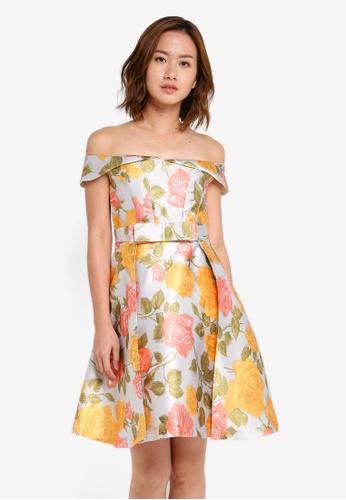 Megane grey and multi Aiglentina Off Shoulder Dress ME617AA0SZXAMY_1