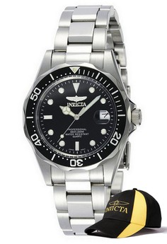 Pro Diver Men 37.5mm Case Watch 8932 with FREE Baseball Cap
