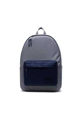Herschel grey and blue Herschel Unisex Classic XL Backpack Grey/Peacoat Bandana - 30L 84A3BAC70A9DEBGS_1