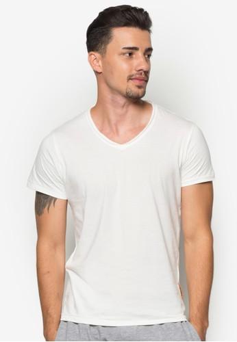 Jed esprit童裝門市基本款V 領T 恤, 服飾, 素色T恤