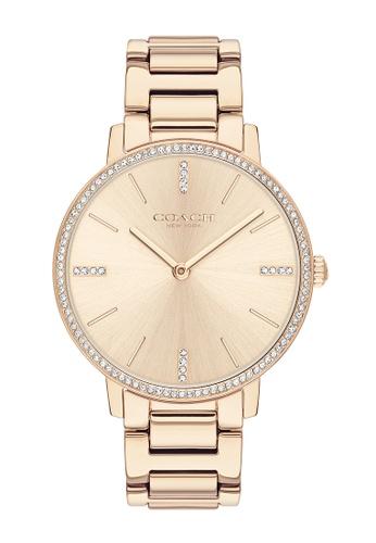 COACH gold Coach Audrey Rose Gold Women's Watch (14503354) DBD44AC9D38873GS_1