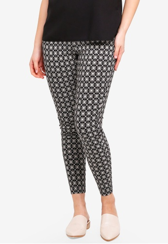 Dorothy Perkins multi Mono Tile Print Skinny Trousers 2AF86AA06D83A0GS_1