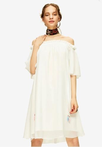Hopeshow white Off Shoulder Mini Dress AF568AAABA80B2GS_1