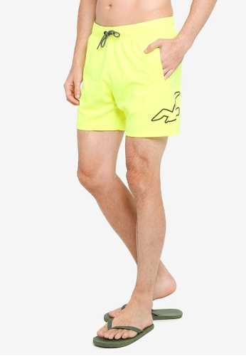 Hollister yellow Solid Guard Exploded Icon Swim Shorts CEFF3US55346E2GS_1