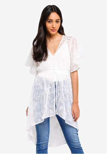 Forever New white Alyssa Embroidered Blouse BBD73AABD76301GS_1