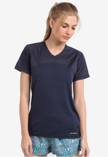 Patagonia navy Short Sleeve Windchaser Shirt PA549AA0RQAZMY_1