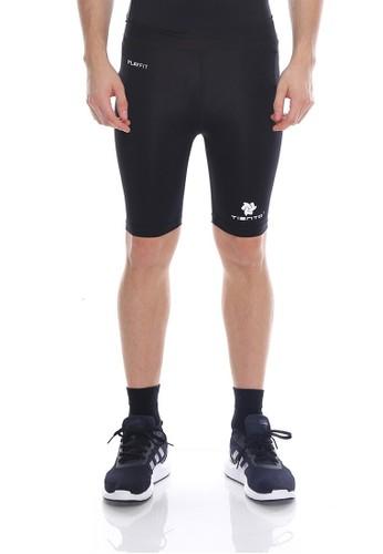 Jual Tiento Tiento Man Short Pants Black White Celana Legging Pria Olahraga Renang Sepakbola Lari Original Zalora Indonesia