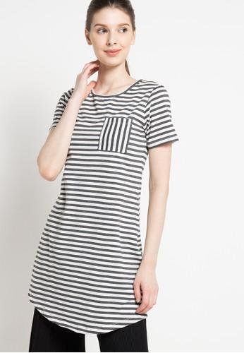 sophistix white Myla Striped Knit Dress In Grey SO829AA62DUNID_1