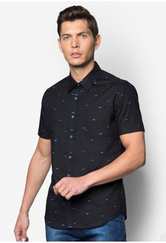 Shark Micro Printed Short Sleeve Shirt