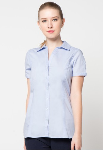 EDITION blue Basic Shirt-Ss ED101AA20ANRID_1