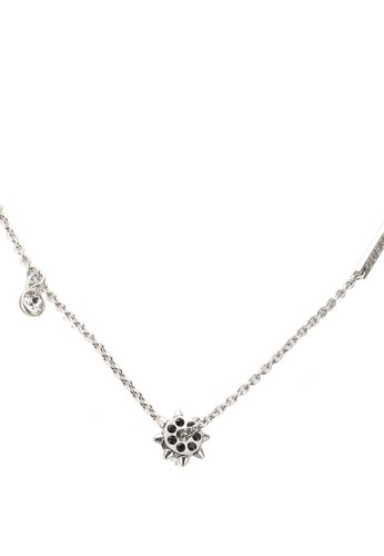 """Guess silver 16-18"""" Crystal Studded Short Necklace 433CCACC7B88D3GS_1"""