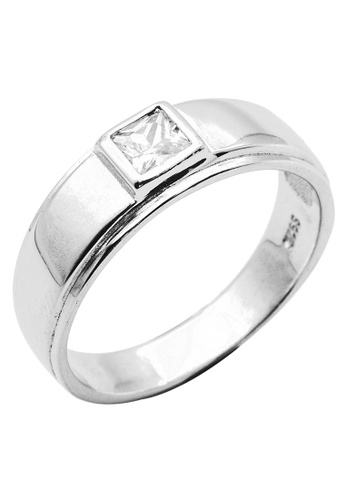 Elfi silver Elfi 925 Genuine Silver Engagement Ring R27 - The Oath Keeper EL186AC43NGQMY_1