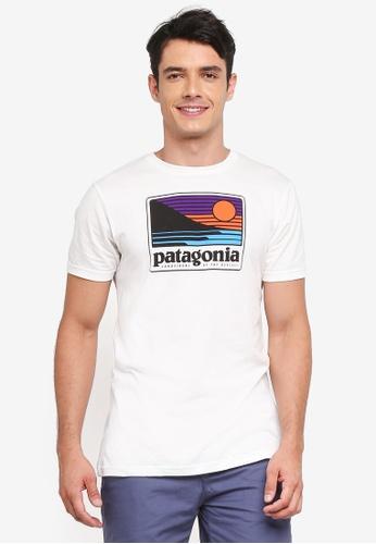 Patagonia white Up & Out Organic T-Shirt PA549AA0SVMUMY_1