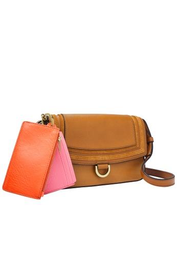 FOSSIL brown Millie Shoulder Bag SLG1380231 312F2AC92D87D5GS_1