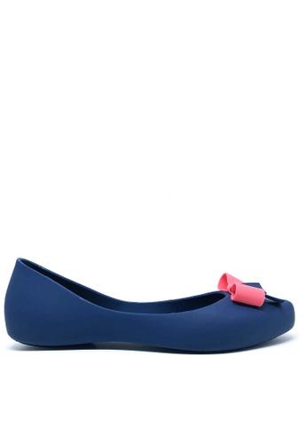 Twenty Eight Shoes 藍色 蝴蝶結果凍膠平底鞋 508D C6AA9SHB68564CGS_1